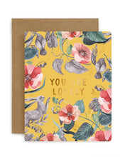 Load image into Gallery viewer, 'You are lovely' Card