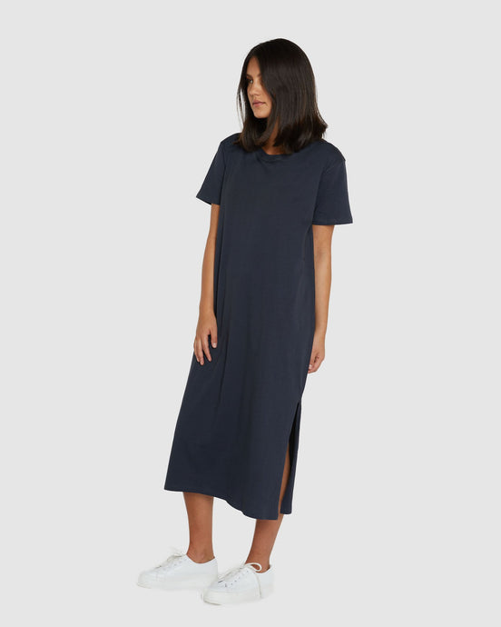 Boxy T-Dress Graphite