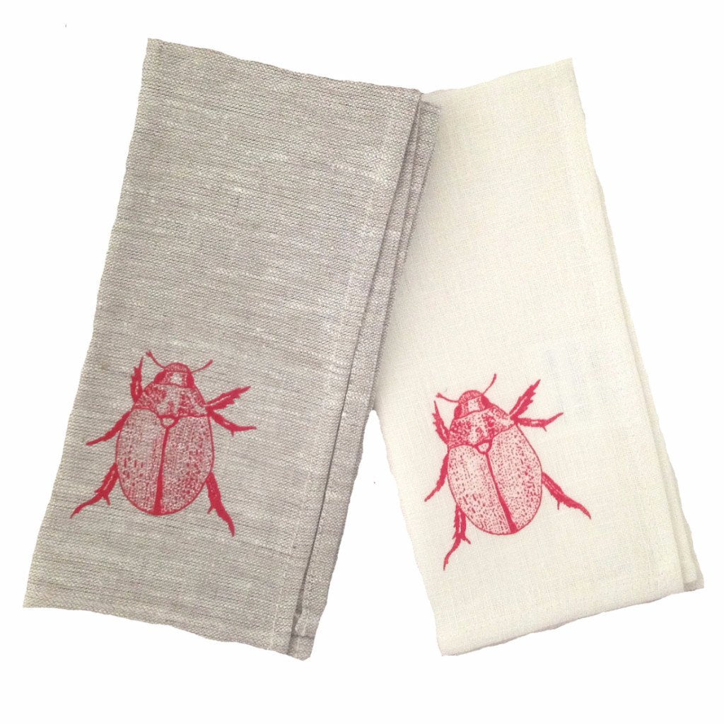 Christmas Beetle Red Napkin Set