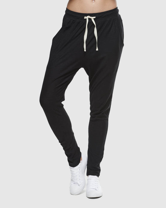 Slub Black Lounge Pant