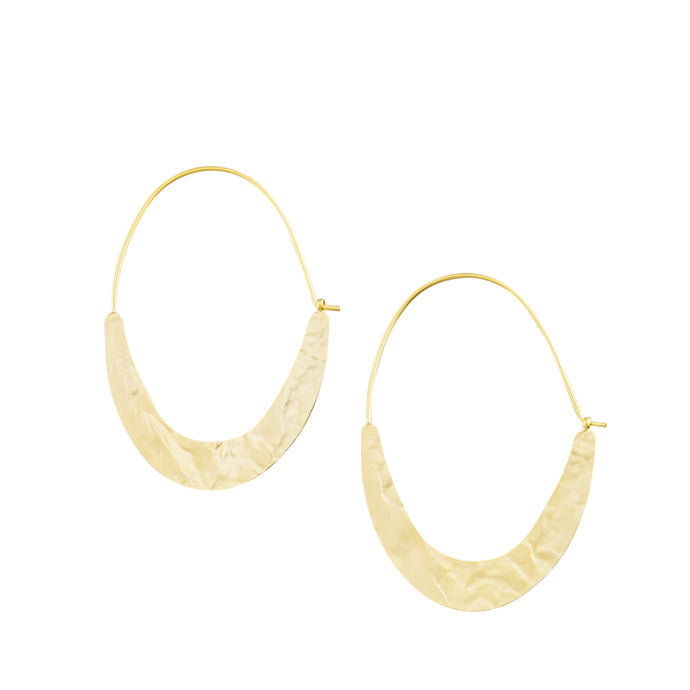 Gold Sliced Hoop Earrings