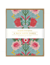 Load image into Gallery viewer, Folk 4 pk Poppies Card Set