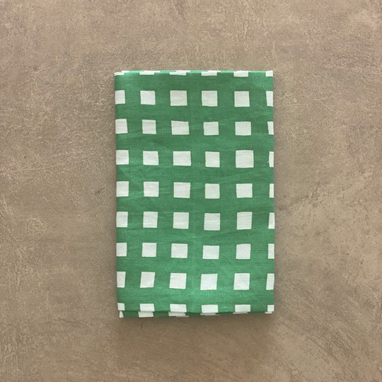 Green Gingham Napkins
