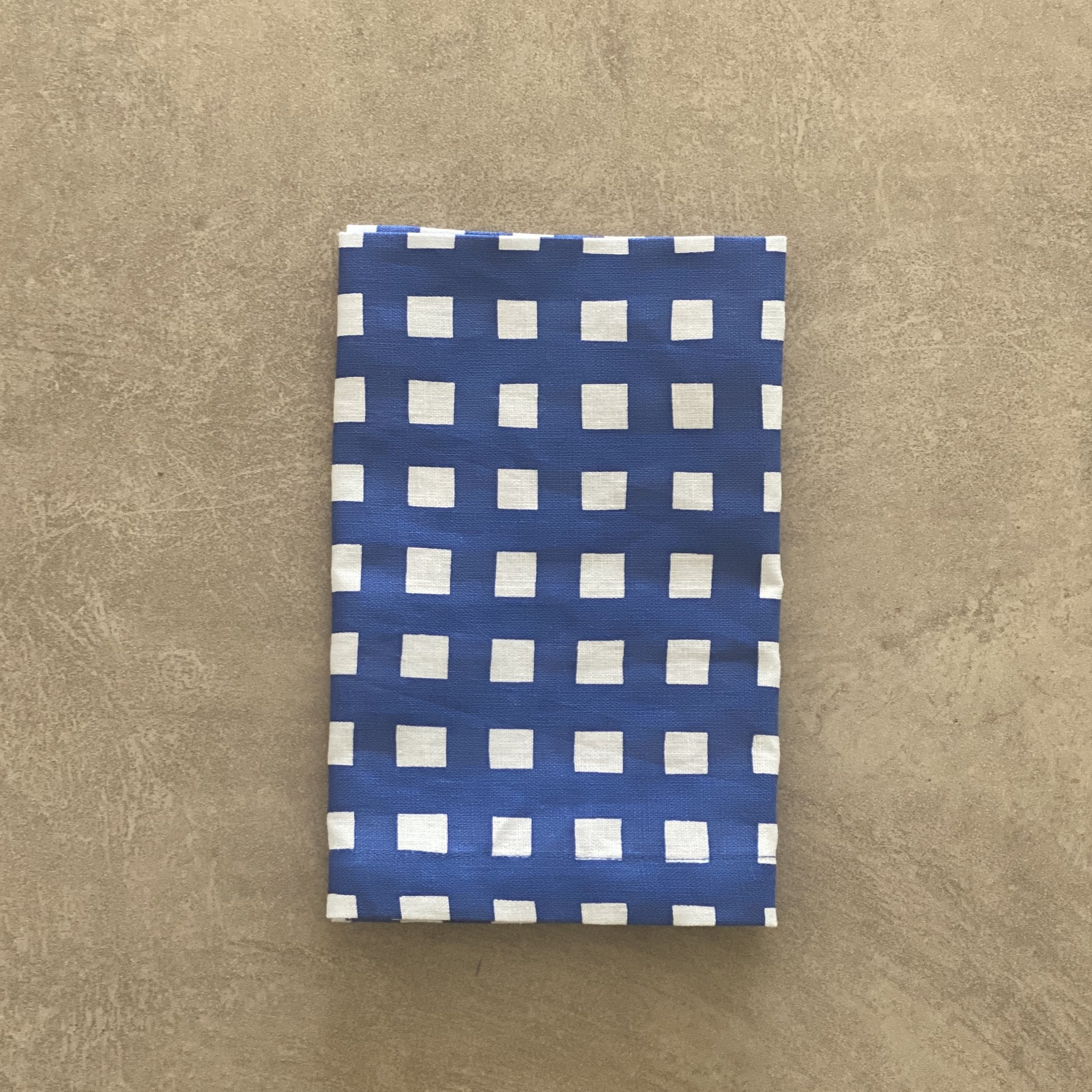 Navy Gingham Napkins