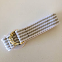 Load image into Gallery viewer, Canvas Cotton Loop Belt - Grey & White Stripe