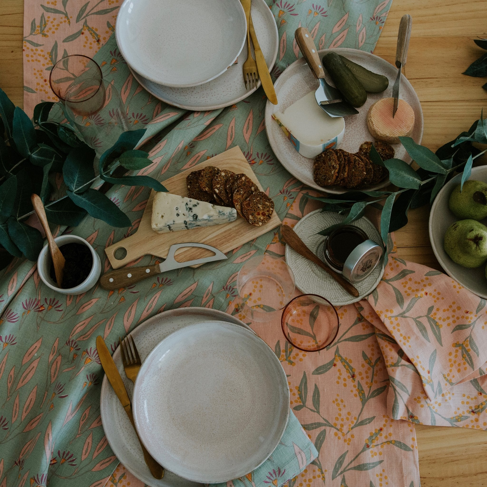 Flowering Wattle Table Runner