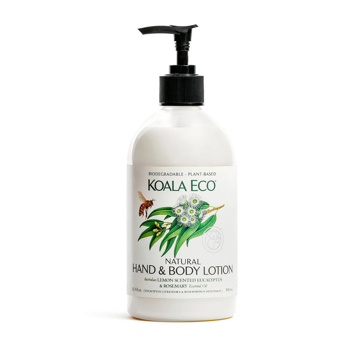 Natural Hand and Body Lotion Lemon Scented Eucalyptus & Rosemary