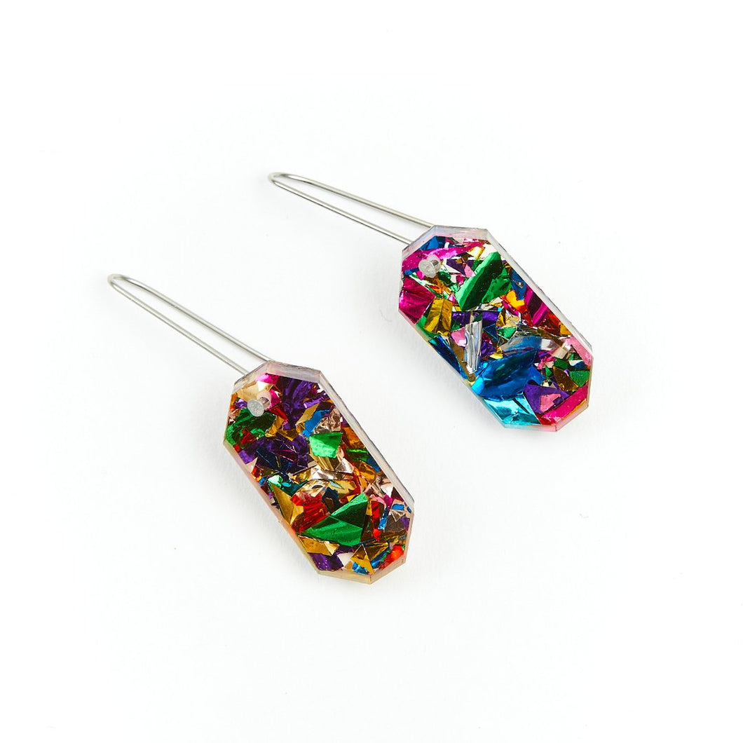 Rainbow Jewel Drop Earrings