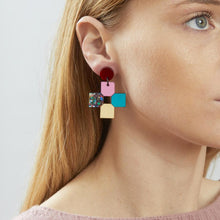 Load image into Gallery viewer, Cross Earrings - Disco