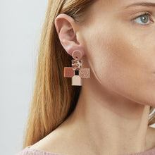 Load image into Gallery viewer, Cross Earrings - Blush