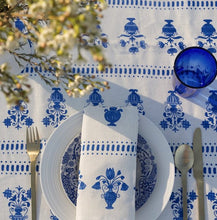 Load image into Gallery viewer, Cobalt Delft Vase Tablecloth