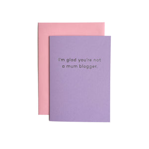 Mum Blogger Card