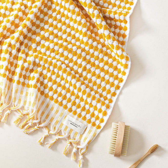 Pom Pom Sunshine Bath Towel