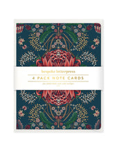 Load image into Gallery viewer, Kaleidoflora Navy 4pk Card Set