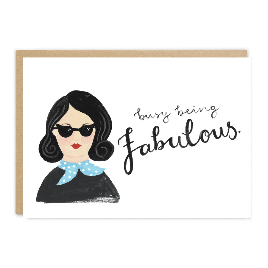 Busy Being Fabulous Card