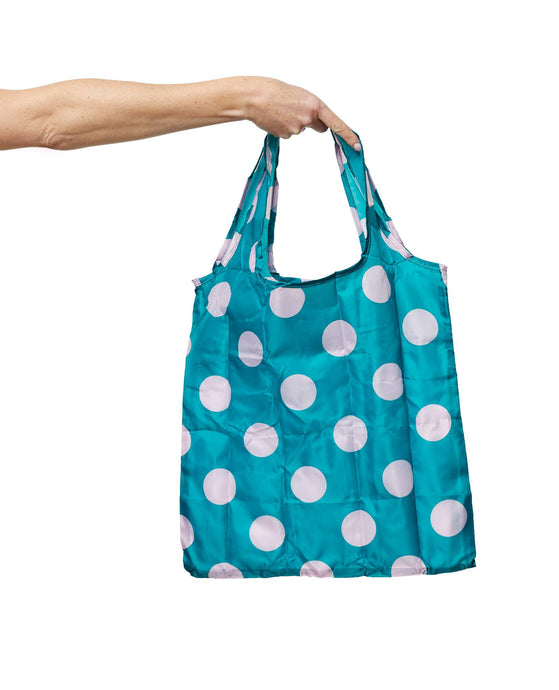 Polka Dot Fold Up Shopper