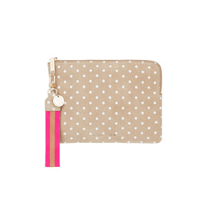 Paige Clutch Taupe Spot
