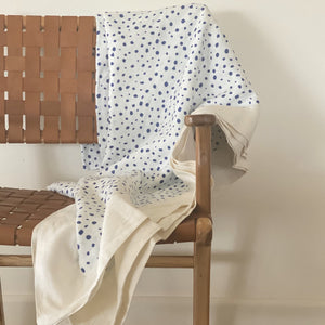Navy Pebble Linen Tablecloth