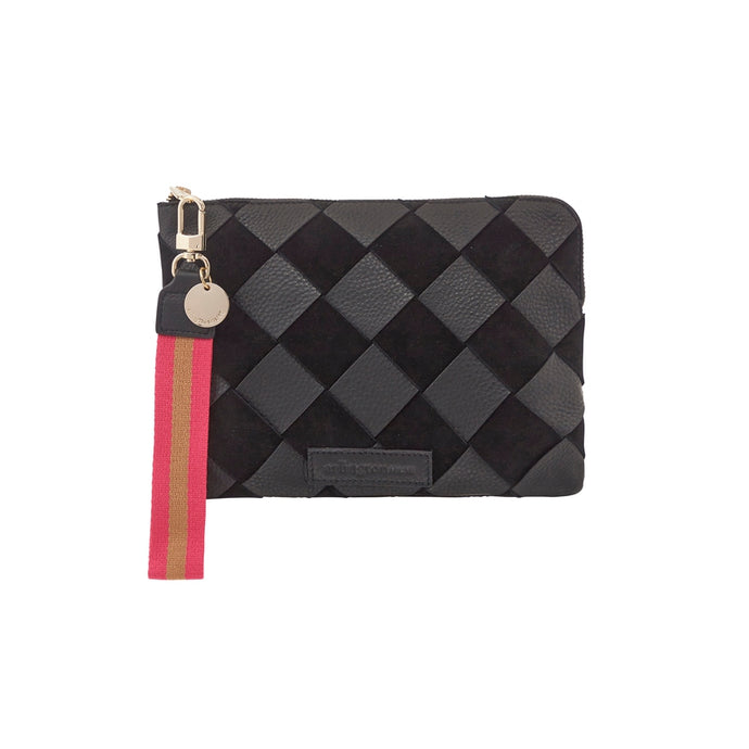 Special Edition Paige Clutch Black Pebble Weave
