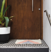 Load image into Gallery viewer, Arrow Silver & Pink Door Mat