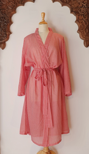 Arabella Dressing Gown Red Gingham
