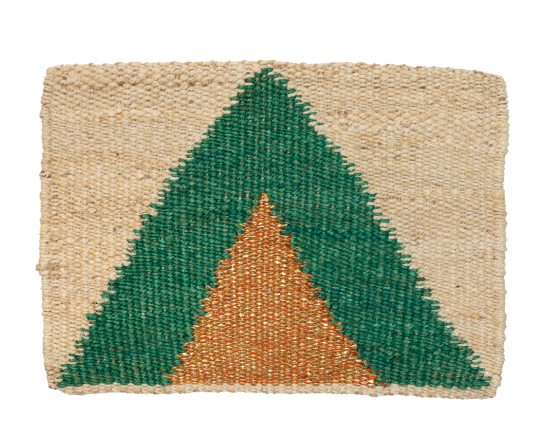 Green & Gold Arrow Door Mat