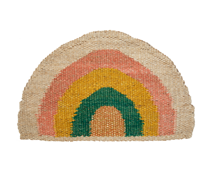 Rainbow Doormat Green