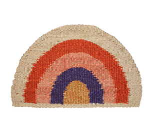 Rainbow Doormat Purple