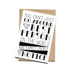 Best Person in the World Card
