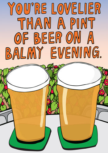 Pint of Beer Card