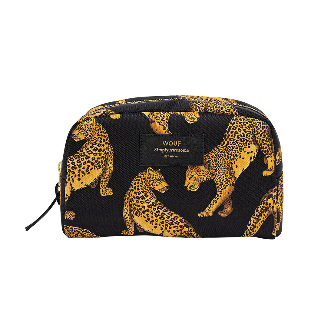 Big Beauty Bag Black Leopard