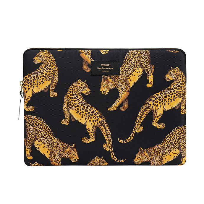Laptop Sleeve: Black Leopard