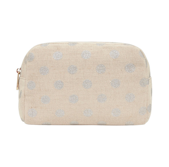 Silver Large Cosmetic Bag