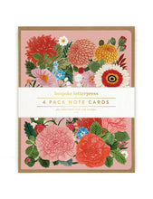 Load image into Gallery viewer, Folk 4 pk Floral Card Set