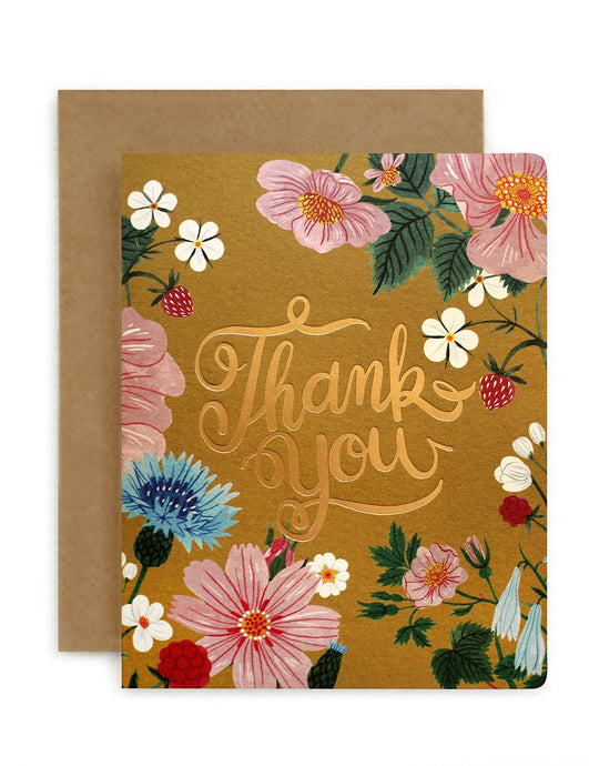 Folk 'Thank You' Card