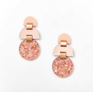 Half Moon Earrings - Rose