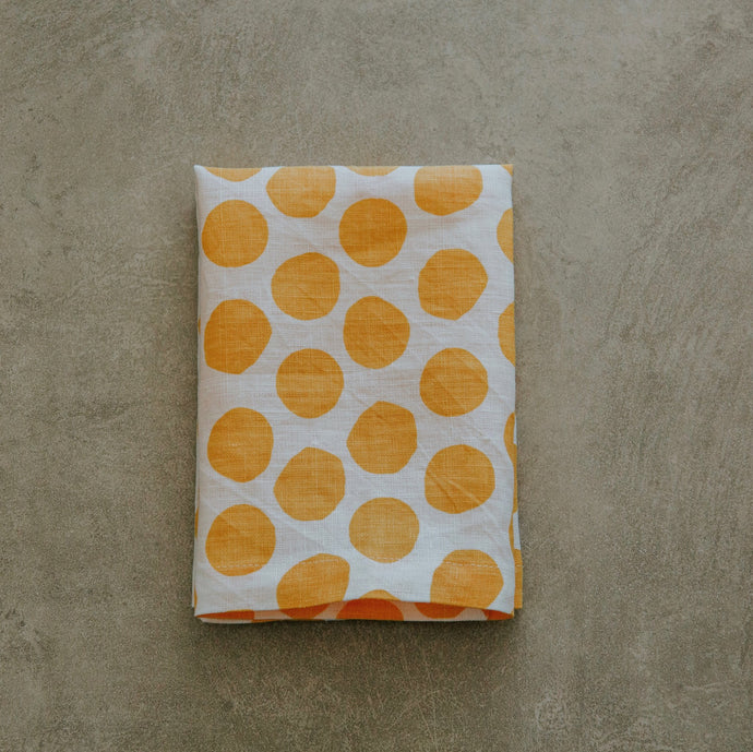 Yellow Polka Dot Napkins