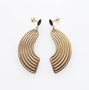 Ludwig Black Earrings