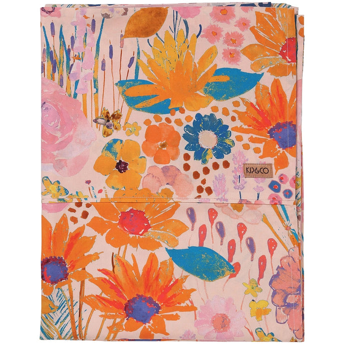 Pinky Field of Dreams Cotton Flat Sheet
