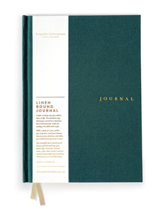 Linen Bound Journal Teal