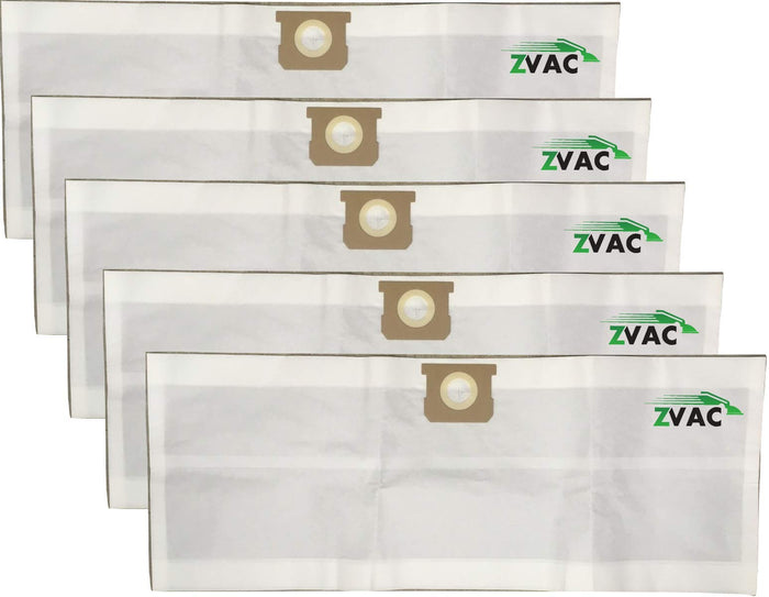 ZVac 5 Pack Compatible Shop Vac Bags 10-14 Gallon Replacement Type I & Type F Shop-Vac Bags. Compare These Generic Bags to OEM 9066200 90662 9067200