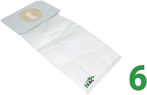 ZVac Replacement Electrolux Hepa Vacuum Bags Compatible with Electrolux Vacuums Using U Type Bags - 6 Pack in A Bag