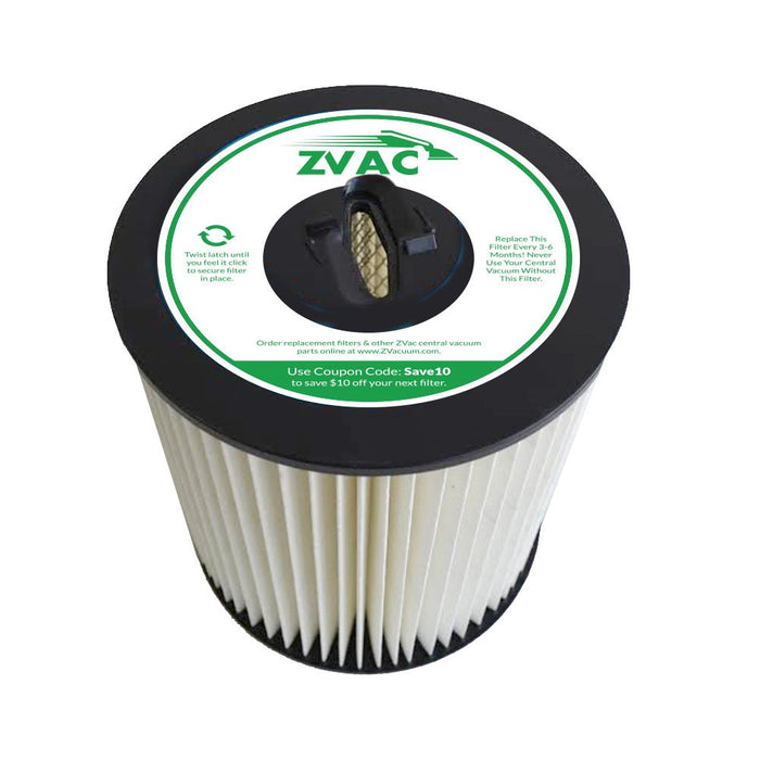 ZVac Compatible Filter Replacement for Dirt Devil pro Series 990 Filter and Vacuflo. Replaces Part# 8106-01. Fits Vacuflo, Dirt Devil, Royal, Titan