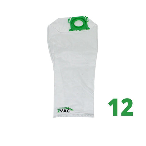 ZVac Premium Bags for Windsor Sensor Vacuum Cleaners (12, SEBO X)
