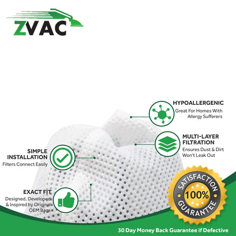 ZVac 2Pk Compatible Filters Replacement for Bissell 38B1 Vacuum Filters. Replaces Parts# 2037423, 2013-7423. Fits Bissell Stick Vacuum