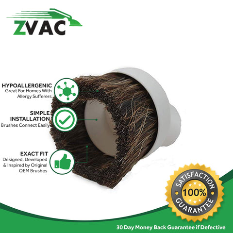 "ZVac Compatible Dusting Brush Replacement for All Vacuums with 1 & 1/4"" Fitting/Attachments"
