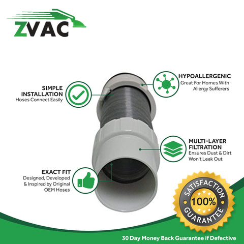 ZVac Compatible Hose Part Replacement for Shark Navigator Lift Away Hose Floor Nozzle Hose. Replaces Part# 156FFJ. Fits Shark Navigator Lift-Away Pro