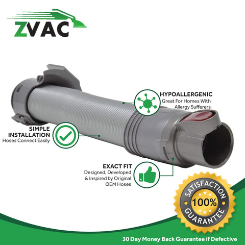 ZVac Compatible Hose Part Replacement for Dyson DC24 Hose. Replaces Part# 914702-01. Fits: Dyson DC24 Upright Vacuum