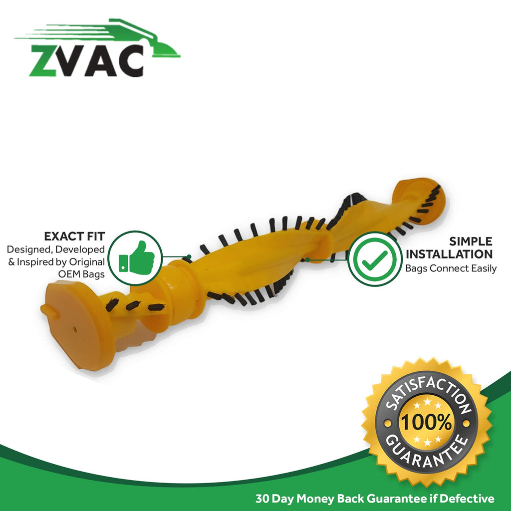 ZVac Compatible Roller Brush Replacement for Dyson DC14, DC07. Replaces Parts# 904174-01. Fits DC14 Low Reach, DC07 Full Gear, Low Reach