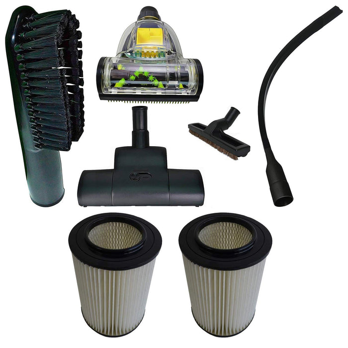 ZVac Compatible Attachment Kit Replacement for Dirt Devil Pro & Platinum Force Central Vacuums with Filters 8106-01